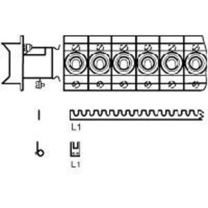 SZ-KS1/12, Kammschiene 1-phasig, 12mm², Pinanzahl 12, blank