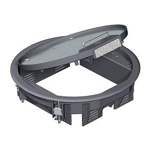 GESR4 U 9011, Geräteeinsatz für Universalmontage 234x234x61, PA, graphitschwarz, RAL 9011