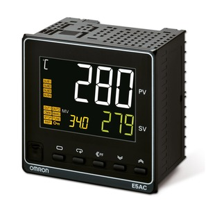 E5AC-CX4A5M-004, Universalregler, 1/4 DIN, Regelausgang 1 stetig 0/4...20 mA, 4 Zusatzausgänge Relais, Universal-Eingang, 100…240V AC, Option 004