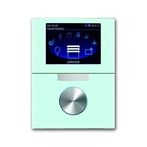 6344-810-101, 8,89 cm TFT-Farbdisplay mit Drehbedienelement, Glas weiß, Busch-Powernet KNX, Busch-priOn Bedienelemente