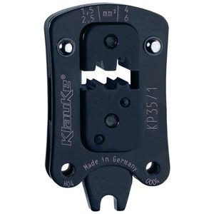 Presskopf für Aderendhülsen, Rundpressung für beengte Kammermaße, 1,5 - 6 mm²