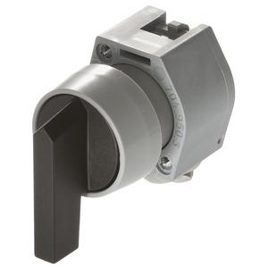 Wahlschalter-Vorsatz 3-St. grau/schwarz langer Griff I-0-I D29