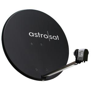 ASTRO SAT-Set 850-1, Set: 1 x Offset-Parabolantenne AST 850 anthrazit, 85 cm Durchmesser, 1 x ACX 945 Quatro-Universal Speisesystem zum Anschluss eines Multischalters