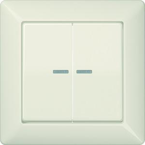 AS 590-5 KO5, Abdeckung, Linsen, Lichtleiter, volle Platte, für Serien-Wippschalter, Serien-Wipp-Kontrollschalter, Doppel-Taster und Taster BA 2fach