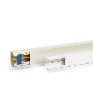 LEH 40 x 60 TW Set, Leitungskanal halogenfrei LEH Set 40 x 60 mit Trennwand RAL9010