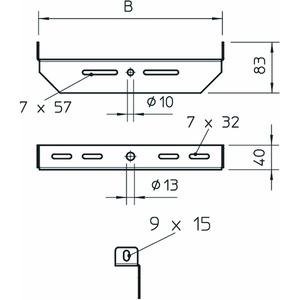 MAHU 300 FS, Mittenabhängung universal B300mm, St, FS