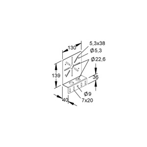 RMP 130 F, Montageplatte, Stahl, feuerverzinkt DIN EN ISO 1461, inkl. Zubehör