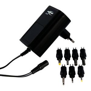 APS 1500, Universal-Steckernetzgerät einstellbar von 3-12V, spannungsstabilisiert, Sekundär-Strom ma. 1500mA, inkl. verschiedener Ausgangsstecker, weltweit einsetzbar 100-240V AC,  3 Jahre Garantie