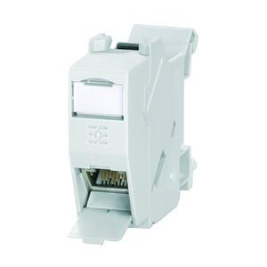 IE-XM-RJ45/RJ45, Tragschienen-Outlet, Kupplung RJ45 - RJ45, IP20, Cat.6 (ISO/IEC 11801)