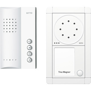 Portier Audio Set Freisprechstelle 1 WE, weiß/weiß
