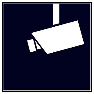 WAK-V, Warnaufkleber: Videoüberwachung (nach DIN 33450). Selbstklebend, blau, 3er Packung