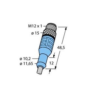 WASS4.5-5/S366, M12 x 1 Rundsteckverbinder, Stecker M12 x 1