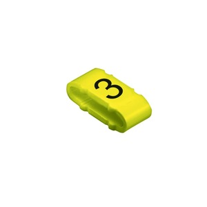 CLI M 2-4 GE/SW 4 MP, Kabelmarkierungssystem, 10 - 317 mm, 4 x 11.3 mm, Aufgedruckte Zeichen: Zahlen, 4, PVC, weich, ohne Cadmium, gelb