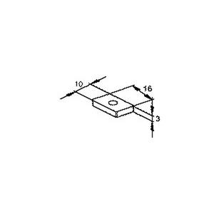 GSM 235, Schräggleitmutter ohne Zyl.-Kopfs., Gewinde M5, H=3 mm, B=16 mm, Stahl, galvanisch verzinkt DIN EN ISO 2081/4042, blaupa