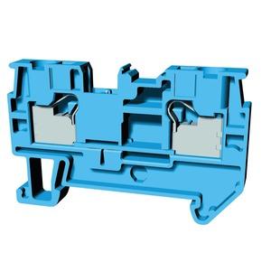 XW5T-P4.0-1.1-1BL, Reihenklemme, Durchgangsklemme, DIN-Hutschiene, TS 35, 4mm², Push-In Plus, blau