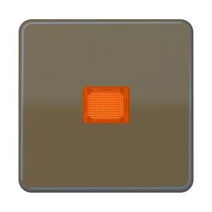 CD 590 KOBF BR, Wippe, Lichtaustrittsfenster, bruchsicher, für Wipp-Kontrollschalter, Tast-Kontrollschalter und beleuchtbare Taster