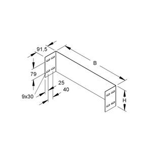 WSAS 150.300 S, Abschlusssstück für WSL/WRL, 150x300 mm, Stahl, bandverzinkt DIN EN 10346, inkl. Zubehör