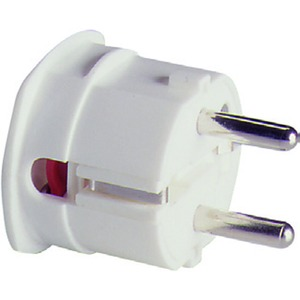SCHUKO Thermoplast-Winkelstecker, weiß