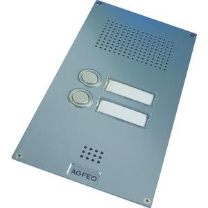 Premium TFE 2 silber, Türsprechstelle Premium mit 2 Klingeltaster, 1 Schaltrelais