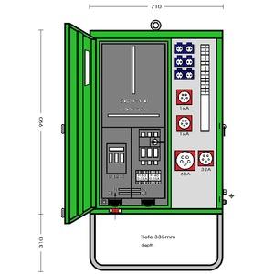 AV 63N/A/6211-2, Anschlußverteiler- Endverteilerschrank