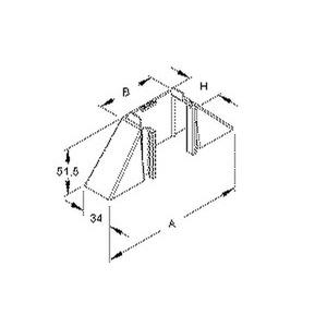 Z4060.3, Abzweigstück 90°, 40x62x162 mm, Kunststoff ASA, RAL 9010, reinweiß