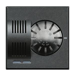 Raumthermostat mit Stellrad zum manuellen Verändern der Solltemperatur, Messbereich 3–40 °C, Anthrazit