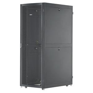 Net-Verse Verteilerschrank, 42 HE, BxT: 800mm x 1200mm, ohne Seitenwände, schwarz, EA