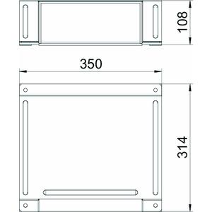 BSKM-TA 1025, T-Abzweig für Wand- und Deckenmontage 100x250, St, FS