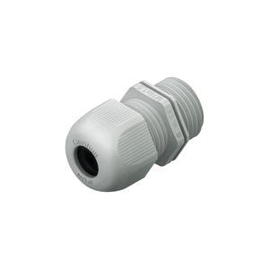 1234M2001, IPON-Kabelverschraubung integ. Zugentlastung, M20, Kabel-Ø 7-12 mm, Kunststoff PA, RAL 7035, lichtgrau