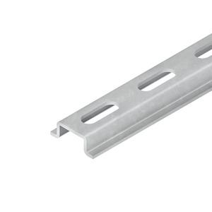2937/2 GL, Tragschiene, Hut-Profil, 15x5,5x2000 mm, gelocht, Stahl, galvanisch verzinkt DIN EN ISO 2081, dickschichtpassiviert