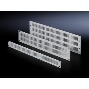 EL 2231.000, Belüftungsfrontplatten, aus Aluminium, Breite 482,6 mm (19), 1 HE, Preis per VPE, VPE = 3 Stück