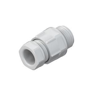 1250/09, CONUS-Kabelverschraubung, Pg 9, Kabel-Ø 4,5-7 mm, ohne Flammschutz, Kunststoff PA, RAL 7035, lichtgrau