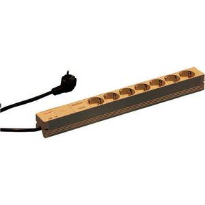 SCHUKO-Steckdosenleiste, 7 Steckereinsätze, 19, mit Netzentstörfilter