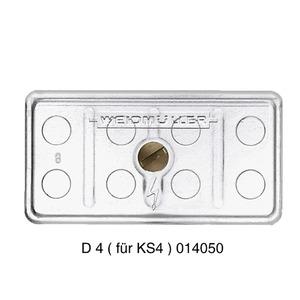 D4 KS4 TP, Ein- und mehrpolige Klemmenleiste, Schraubanschluss, Polzahl: 4, 48 mm, transparent