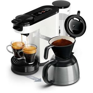HD6592/00, Senseo NEW Switch 2-in-1 Pad- und Filterkaffeemaschine mit Kaffee-Boost, Crema Plus und Stärkewahl, weiß