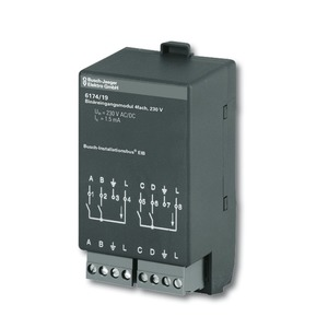 6174/19, Binäreingangsmodul, 230 V, Busch-Installationsbus KNX, Raum-Controller AP