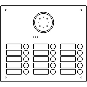 Acero Edelstahl-Türstation Audio, 15 WE, Audio, Edelstahl