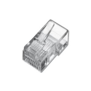 Modular Stecker, für Flachbandkabel, 6P6C ungeschirmt, DIP, 6 µ Gold