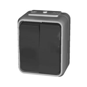 Serienschalter 10A AquaTop Schraubklemme perlweiß