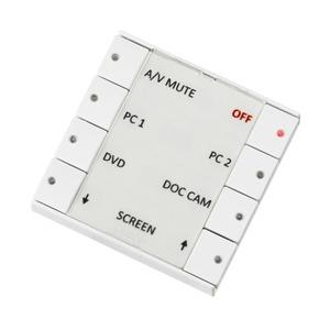 Leistungsfähige und genial einfache Mediensteuerung. Mit dem Druck einer Tastet bietet die EcHo die komplette Kontrolle für Projektoren, Leinwand Rela