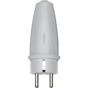 PVC-Schuko-Stecker 250 VAC/16 A, grau, 125463