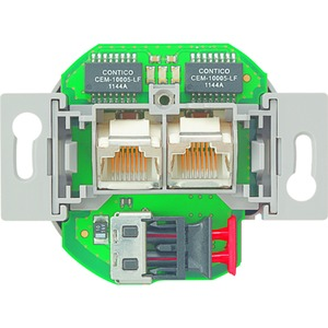 MK-POF-2 UAE, Medienkonverter, 2fach, UP, 2xRJ45, 1xPOF (Polymer Optical Fiber, 2,2mm Duplex)