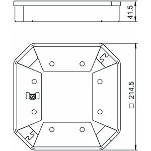 ISSHS4SR40, Schutzrahmen für ISSHS4 41x214, St, tiefschwarz, RAL 9005