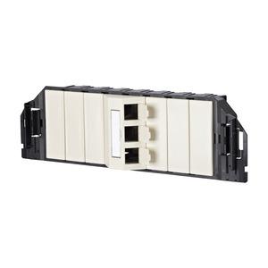 1309360301-E, Subway GB3 Modul 3 Port perlweiß RAL1013 unbestückt