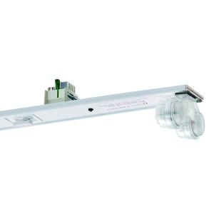 VLSG-T16 235/49/80-11 Z-UR, Geräteträger weiß, IP54, 11-polig, 2xT16 35, 49, 80W, Multiwatt EVG, Umschaltrelais für zentrale Ersatzstromversorgung, L=1486mm. Beim variablen Platz