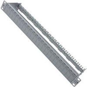 E-DATmodul 6x8(8) 1HE Patchfeld Cat 6A Aluminium