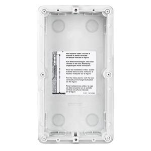 2-moduliger Unterputzkasten aus Kunststoff zum Einbau der SFERA und LINEA 3000 Türstationen