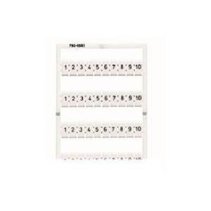 WMB-Beschriftungskarte 201 ... 300 (1x) dehnbar 5 - 5,2 mm Aufdruck waagerecht weiß