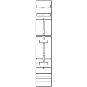 1ZF52, Zählerfeld BH5 1-Feld nicht verdrahtet mit Zählerkreuz