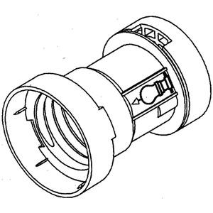 82/13, Illuminations-Fassung E27 ohne Loch, IP 20, Höhe 53,6 mm, Außen-Ø37 mm, Elastomere TPE, Farbe schwarz